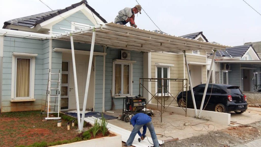 pembuatan kanopi rumah minimalis 1