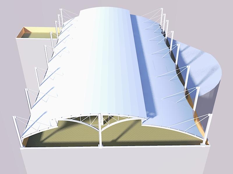pembuatan tenda membran bengkel las konstruksi baja depok 1