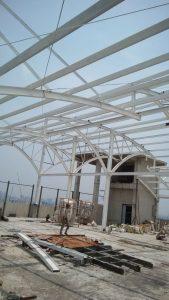pembuatan tenda membran bengkel las konstruksi baja depok