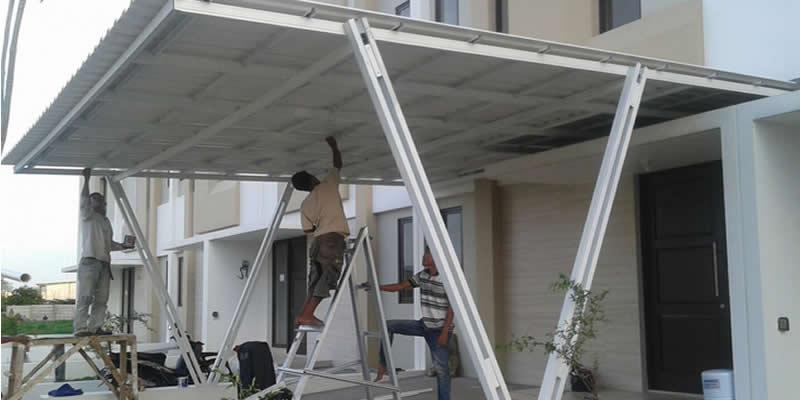 pembuatan kanopi baja ringan depok