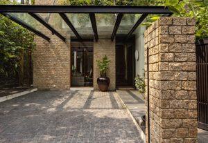 pembuatan kanopi kaca rumah villa