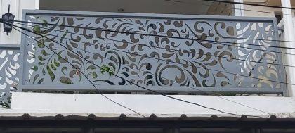 pemasangan railing balcon laser cutting 21