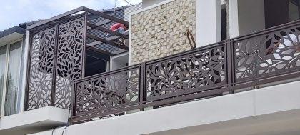 pemasangan railing balcon laser cutting 3